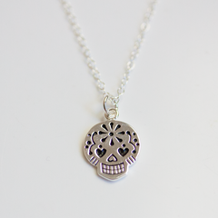 MEXICAN SUGAR SKULL - NECKLACE