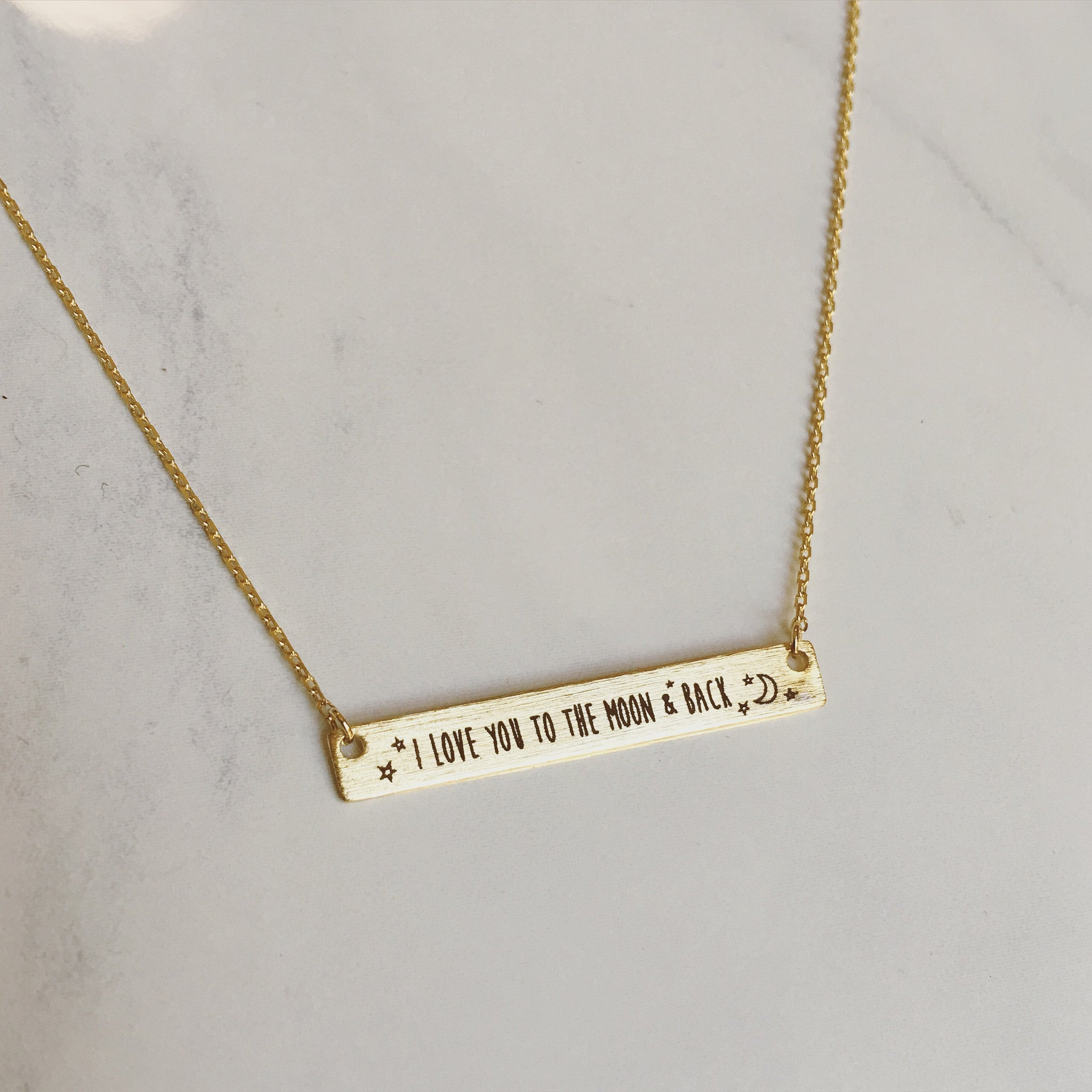 I LOVE YOU TO THE MOON & BACK - Necklace