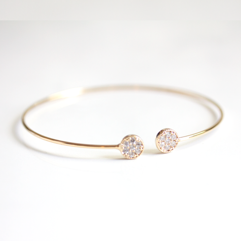 ROUND PAVE SUMMER  -BANGLE