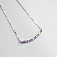 CRYSTAL CURVE BAR - NECKLACE