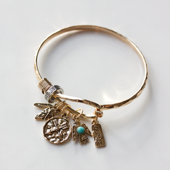 BE BRAVE & COURAGE CHARM - Bracelet
