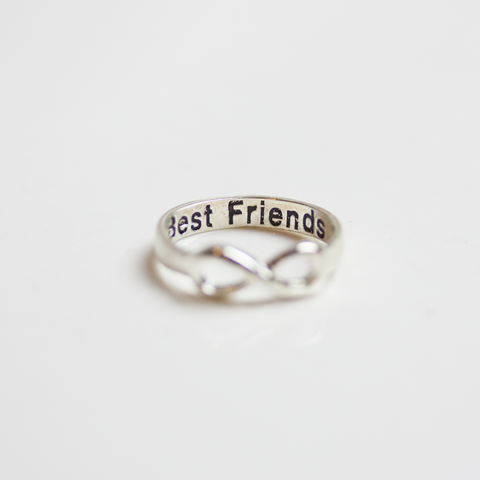 Silver Best Friend Infinity Ring