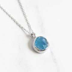 SILVER DRUZY  - Necklace