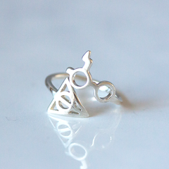 HARRY GLASSES & DEATHLY HALLOWS - Ring