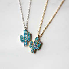 TURQUOISE CACTUS - Necklace