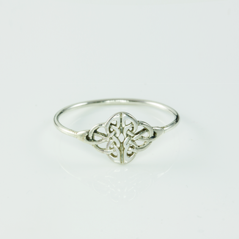 sterling irish ring gents celtic knot silver crossroads rings
