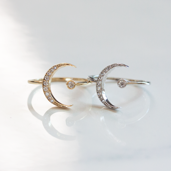 CRESCENT MOON & CRYSTAL