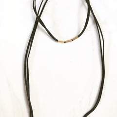GOLDEN TUBE CHOKER/ LONG -Necklace