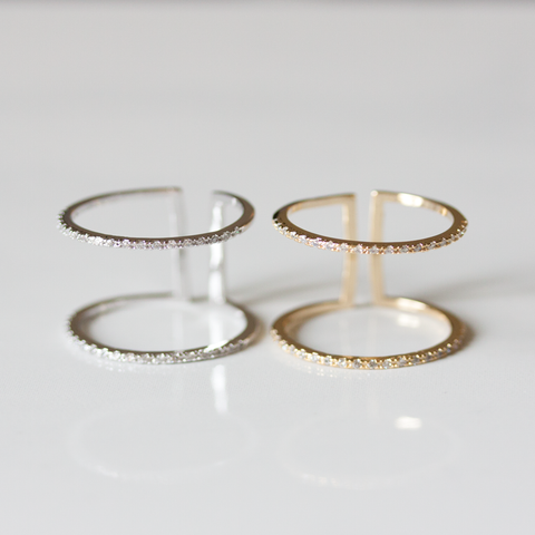 THIN PAVE STONE CLEO - Ring