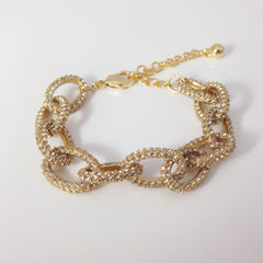 GLAM PAVE LINK CHAIN -BRACELET