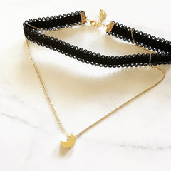 MOON CHOKER SET - Necklace