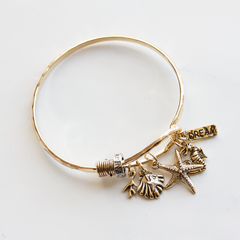 DREAM & STARFISH CHARM - Bracelet