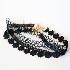 BLK MULTI PACK CHOKER - Necklace