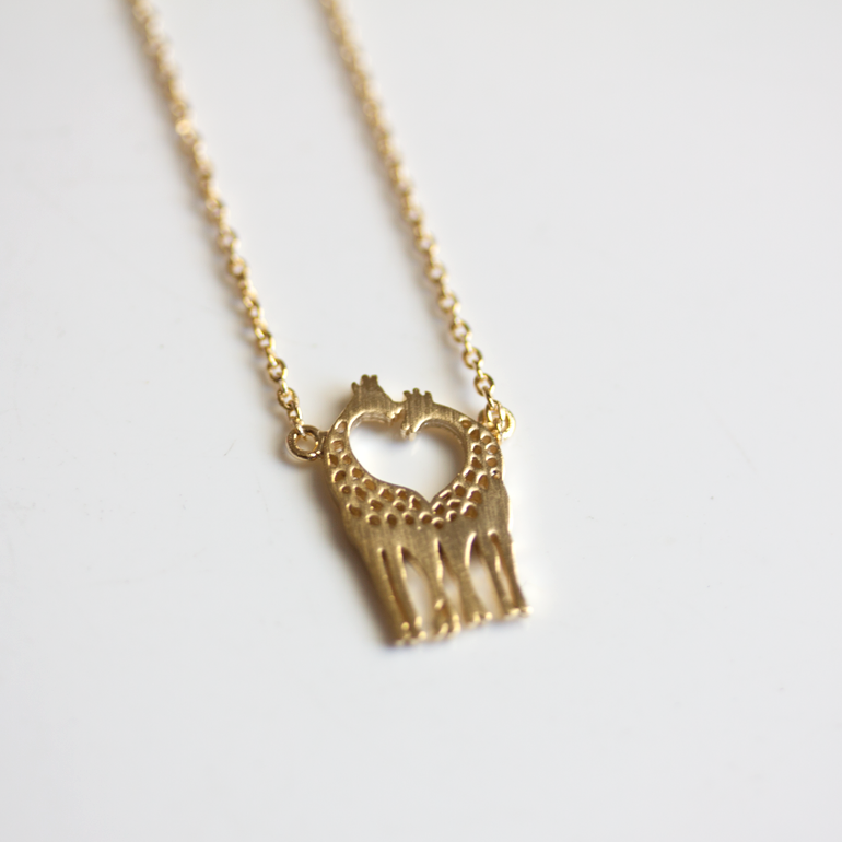 carat and alon gold necklace shina silver giraffe products