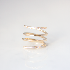 Crystal Coil - Ring