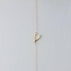 SIDEWAYS WISHBONE - BRACELET