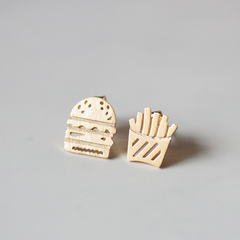 BURGER & FRIES -Earrings