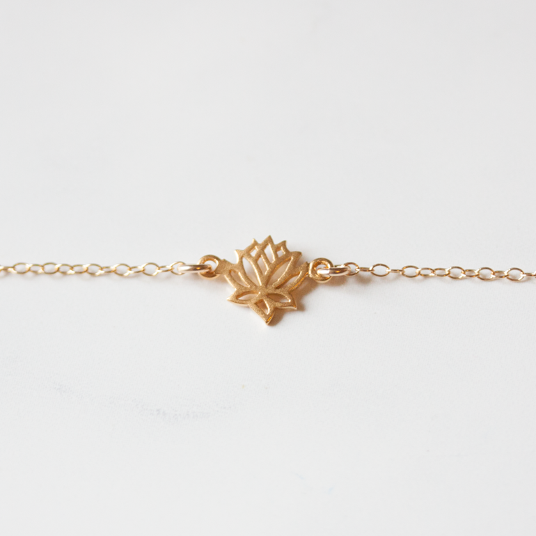 GOLD LOTUS - ANKLET