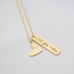 LOVE YOU MORE -NECKLACE