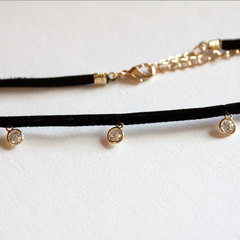CRYSTAL DROPLET CHOKER - Necklace