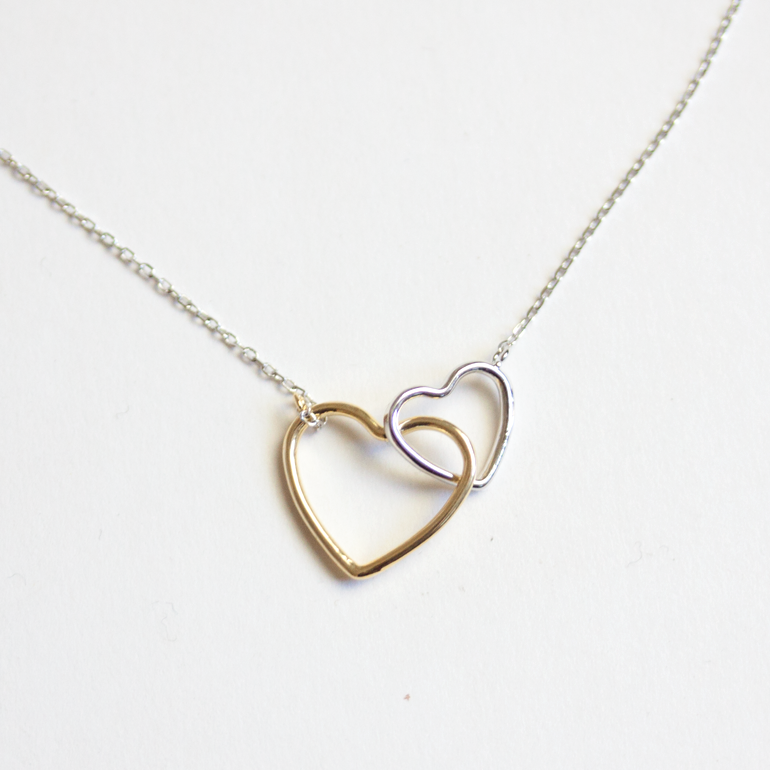 OPEN TWIN HEART -NECKLACE