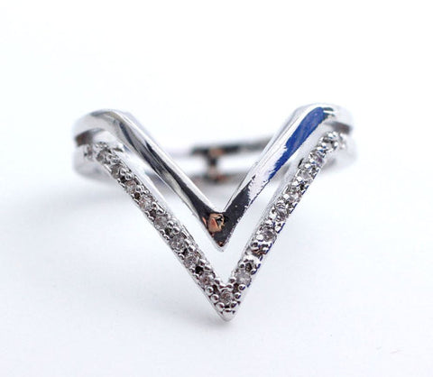 DOUBLE  CHEVRON - RING