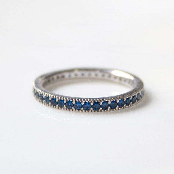 BLUE CRYSTAL BAND - Ring