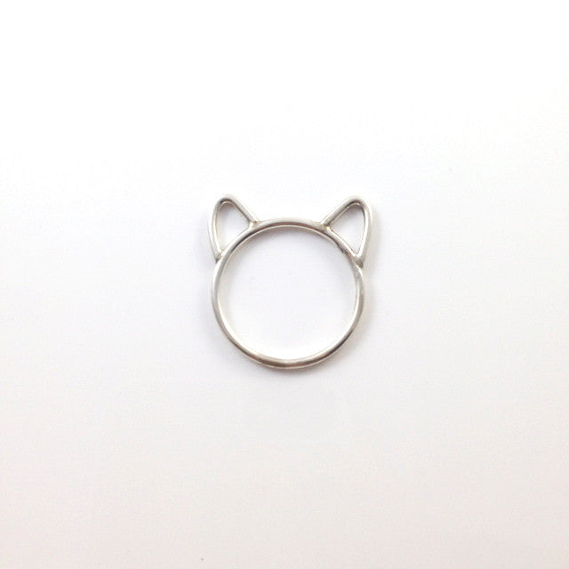 SILVER CAT EARS - RING