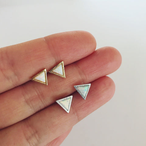 TRIANGLE OPAL - Earrings