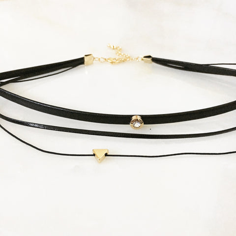 CRYSTAL MULTI LAYER CHOKER - Necklace