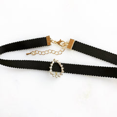 PAVE TEARDROP CHOKER - Necklace