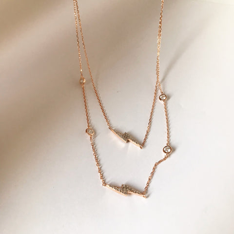 SIDEWAYS LIGHTNINGS -Necklace