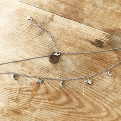 NORTHERN STAR & MOON -Necklace