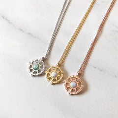OPAL COMPASS - Necklace