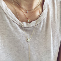 CIRCLE & BAR -NECKLACE
