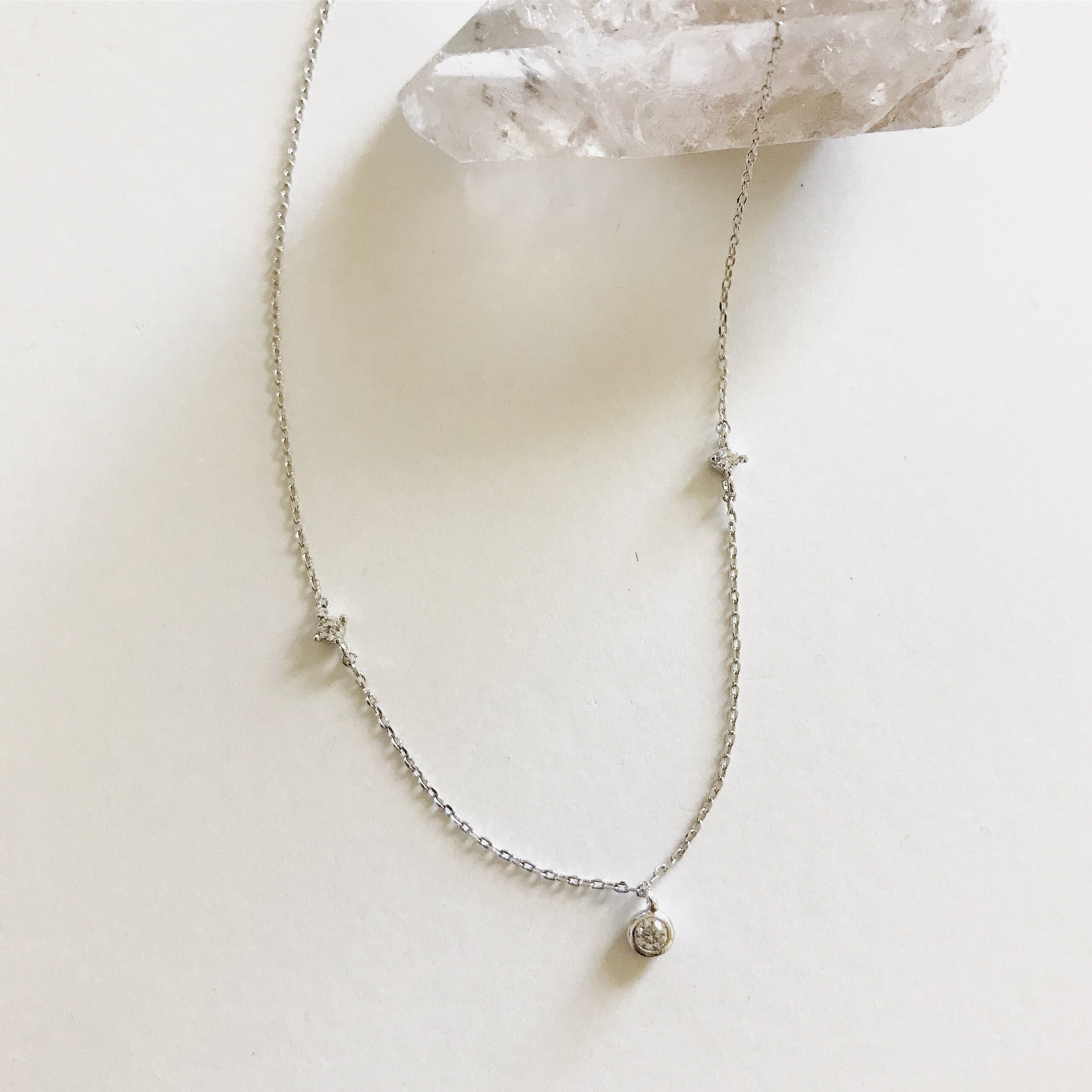 TINY CRYSTALS -Necklace