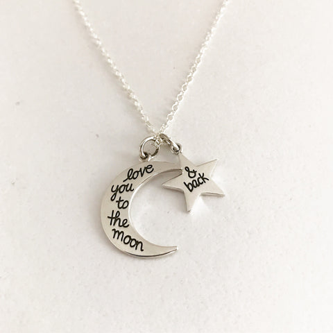 LOVE YOU TO THE MOON & BACK - Necklace