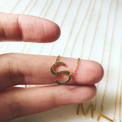 SIDEWAYS INITIAL -Necklace