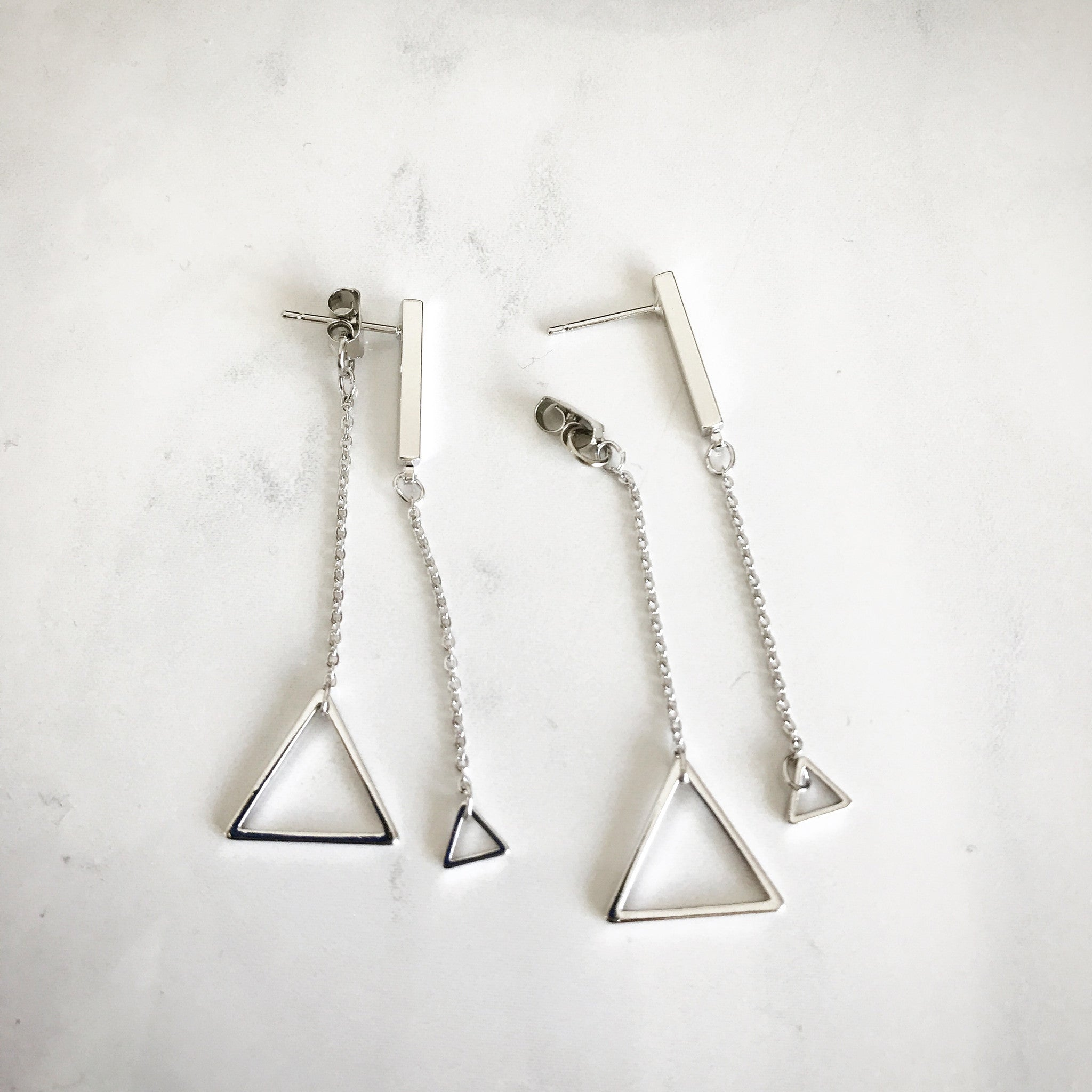DOUBLE TRIANGLE -Earrings