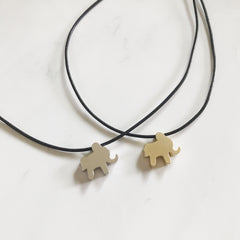 ELEPHANT COTTON CORD CHOKER - Necklace