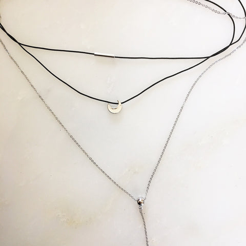 LAYERED MOON CHOKER - Necklace