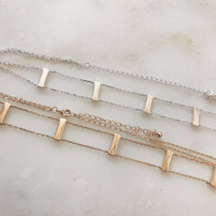 BAR CHOKER - Necklace