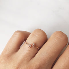 2 RECTANGLE STONE -Rings