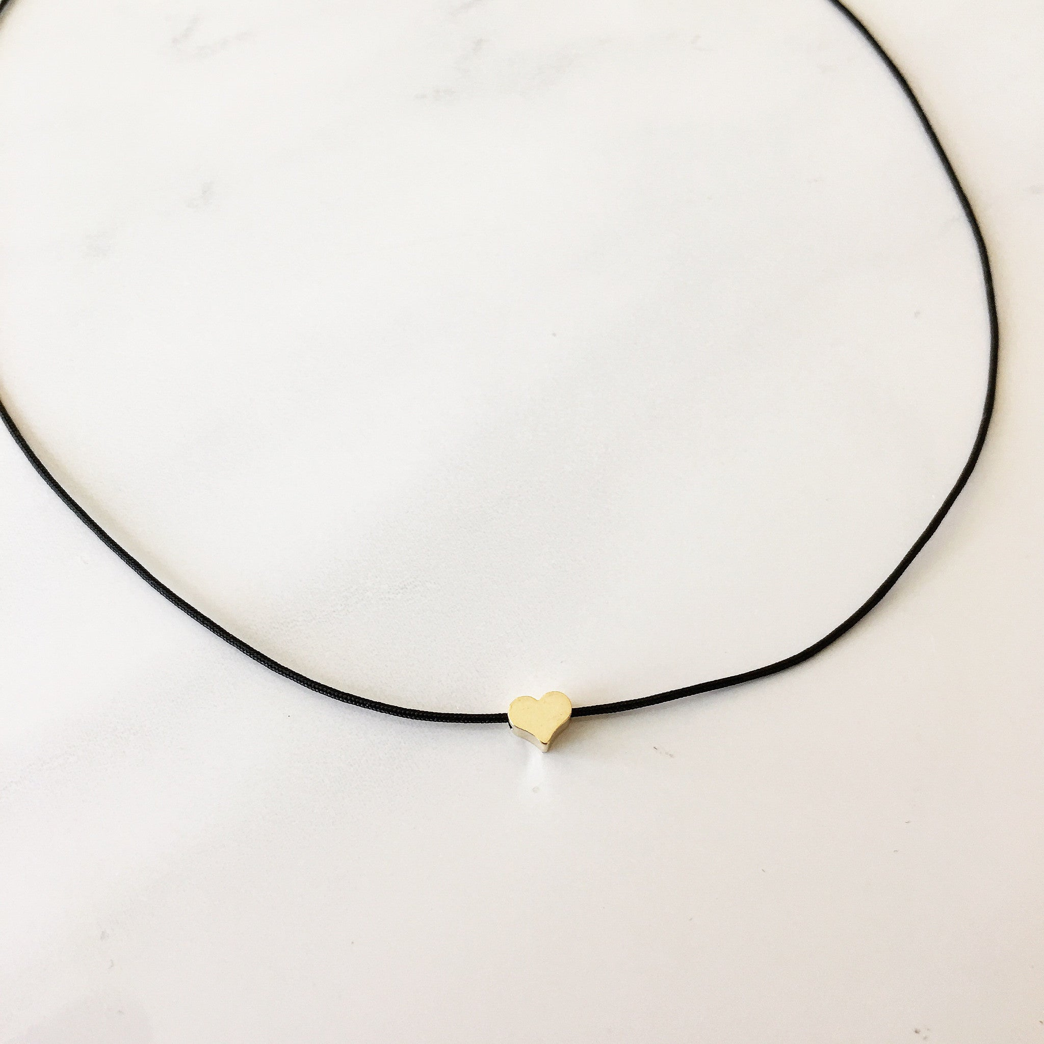 TINY HEART CHOKER - Necklace