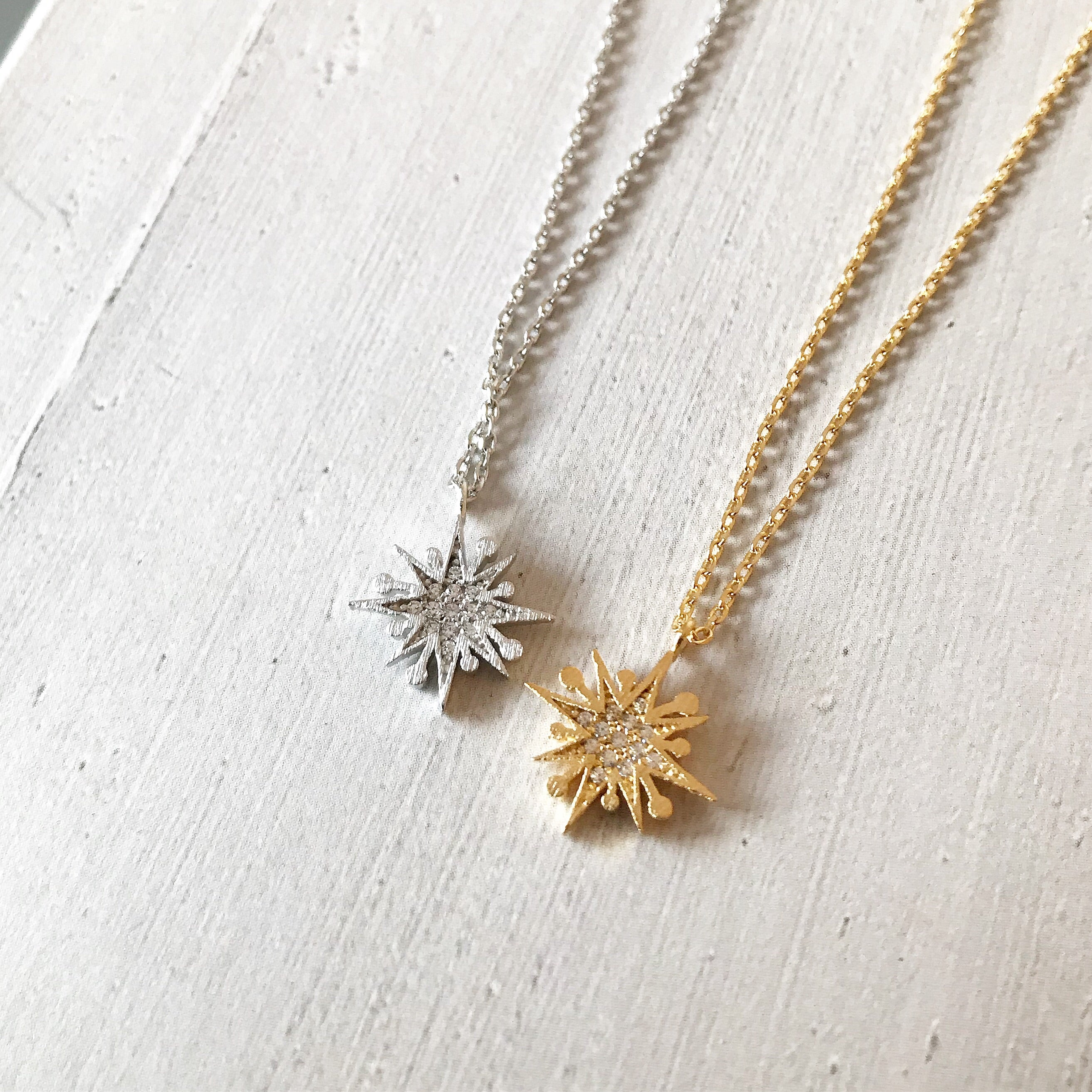 PAVE SNOWFLAKE -Necklace