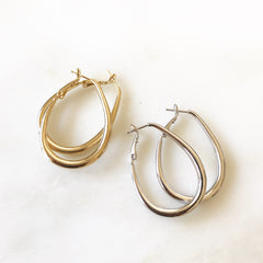 OVAL -Earrings