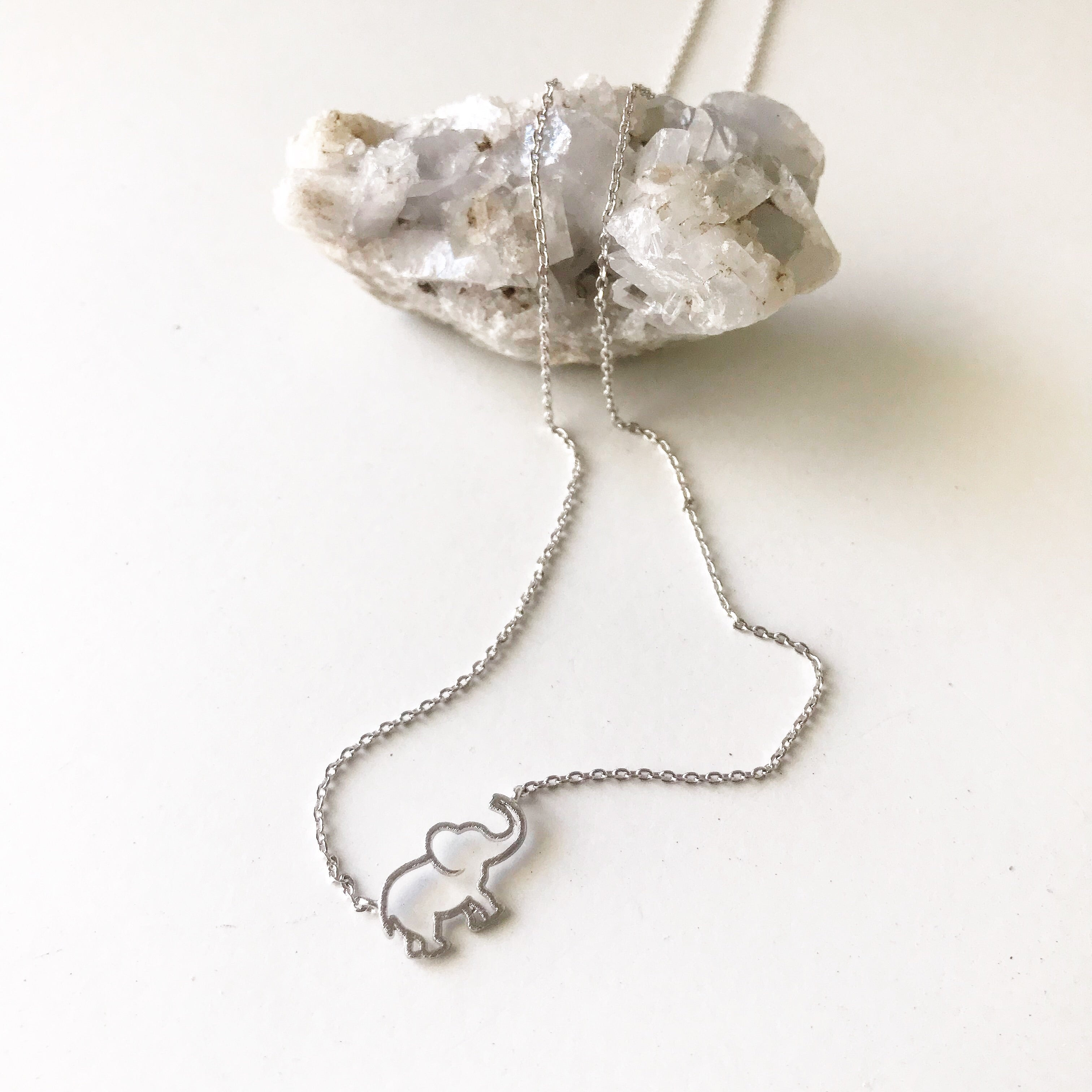 ELEPHANT OUTLINE -Necklace