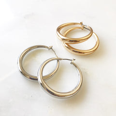 TRENDY HOOP -Earrings