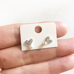 TINY HEART PEARL - Earrings