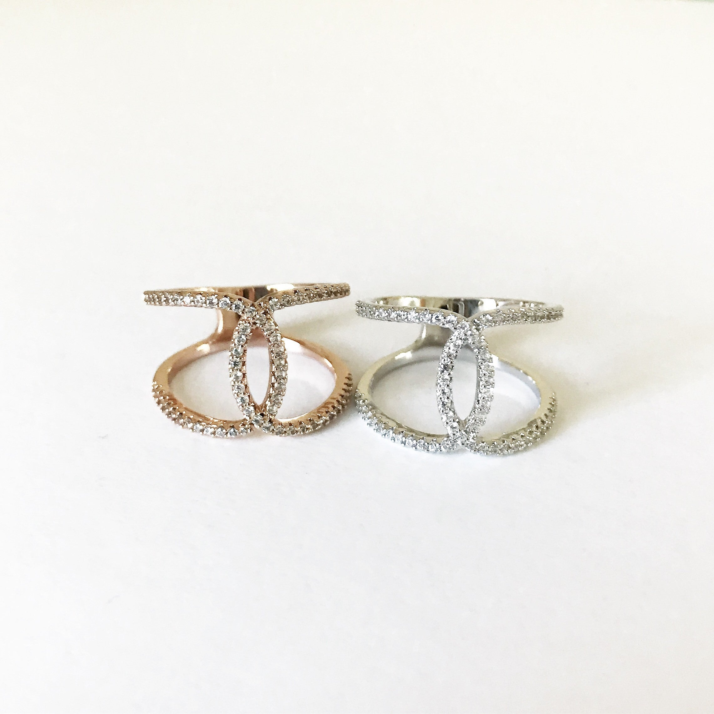 PAVE KNOT -Ring